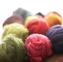 Colour Card Silk Fibres