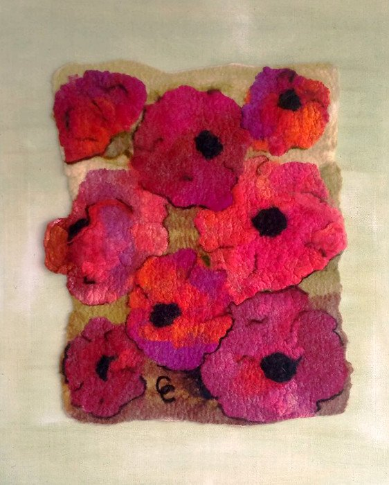 Silk Hanky Nuno felted, South Australia by Cherie Coppins