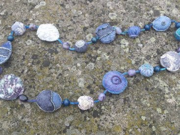 Meg Chater, UK. Nuno felted Bead Meditation beads