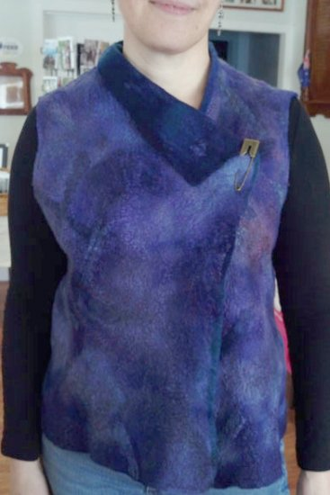 Jan Bosher, Victoria, Australia. Nuno felted vest with superfine Merino tops