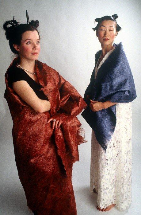 Silk Paper wraps and dress by Anne Farren, Perth, Western Australia