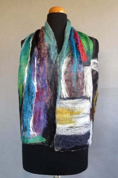 Nuno Wool and Silk Scarf by Cristina, Countas, Cypress, contact Treetops for contact details