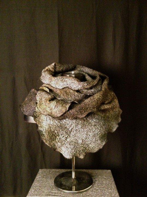 Paj silk Nuno felted scarf by Sigrid Bjerregaard, Copenhagen,Denmark