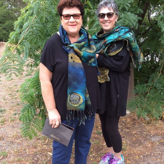 Jean Gauger, Florida, USA. Jean with her student showing off their latest creations using Treetop's materials