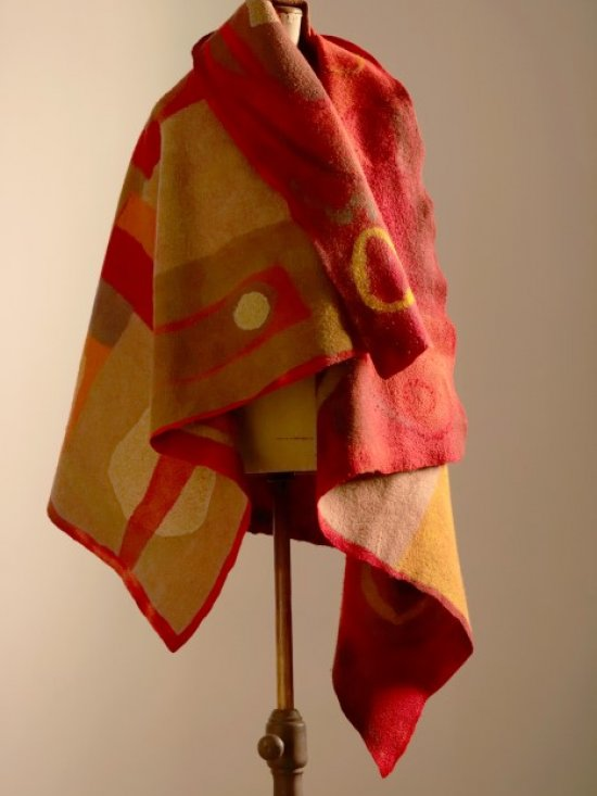 Felted Wampum Blanket