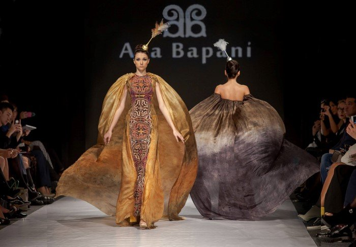 Designed by Aya Bapani, Kazakhstan. 2012 Kazakhstan Fashion Week Best Designer Award.